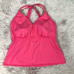 Lands' End Pink Tankini Size 18D